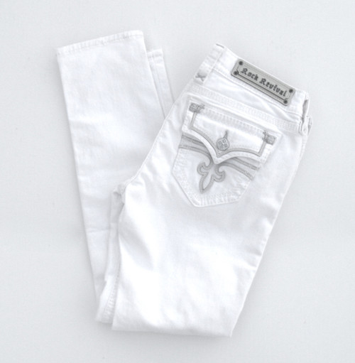 Rock Revival Celine Ankle Skinny White Jean