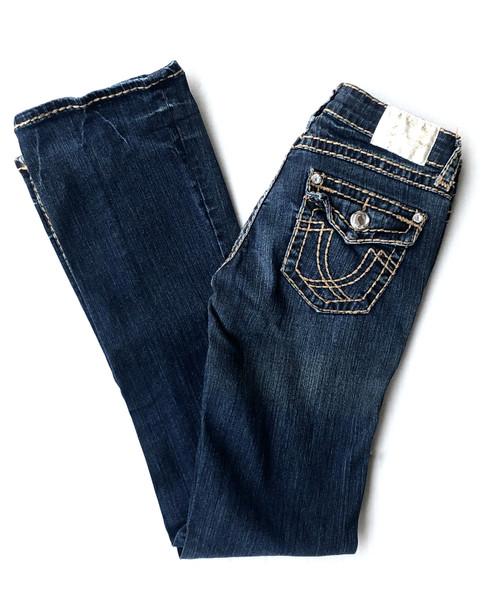 LA Idol Tan Stitching Boot Jean
