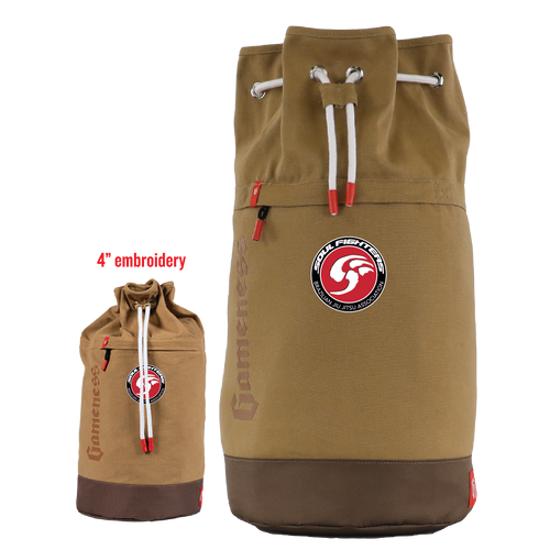 This unique-looking Soul Fighters bag from Gameness gives you the perfect way to carry up to two of your Brazilian jiu-jitsu Gis! The bag's heavyweight canvas cotton provides a distinct look and heavy-duty durability, while its padded back and straps make carrying more.
