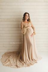 Beige Evangeline Gown