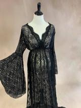 Black Bohemian Gown