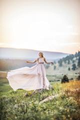 Isabella Maternity Dress, hi low layers, infinity straps