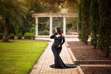 Scarlet  Velvet Maternity Gown with Long Train, off shoulders, long sleeves, winter / fall style, emerald green