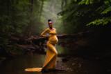 Mabel  Velvet Maternity Gown
