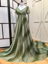 Meadow Ombre Maternity dress with flutter sleeves