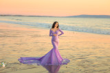 Madeline  Fitted Long Sleeves Gown, Mermaid Style