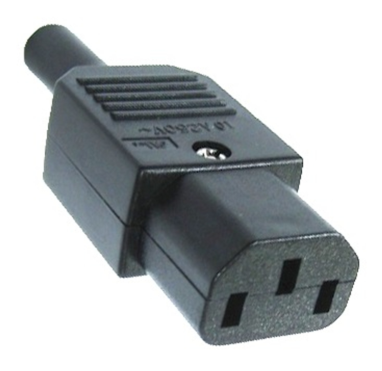 10A C13 IEC socket Black - Asian (quality brand) UL Approval only