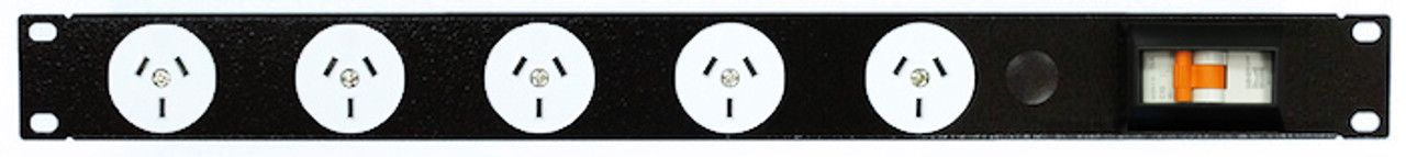 Power Strip 5 Outlets | 3pin | 19in 1RU Horizontal