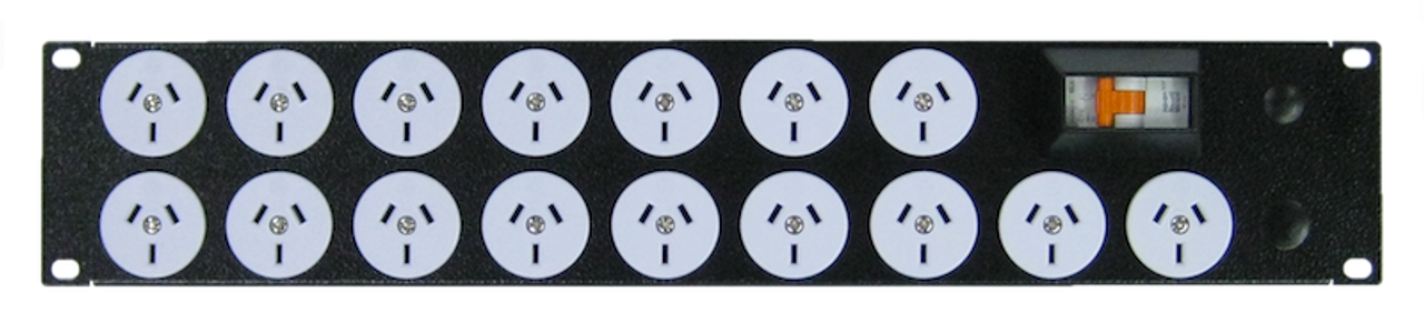 Power Strip 16 Outlets | 3pin | 19'' 2RU Horizontal