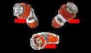 20A 3 pin straight plug Orange (IP66) - PDL56P320