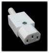 10A C13 IEC socket White - European