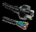 15A 3 pin plug on (1.5mm2) Black lead