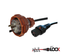 Custom Cable: Fitted 56P310 to Moulded C13-Lock, Black (1mm2)
