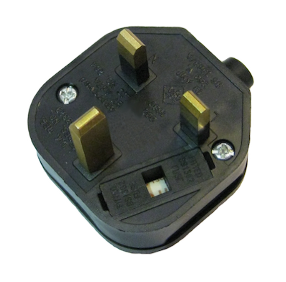 UK 13A fused plug - Black