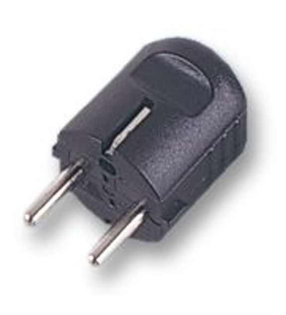 Schuko back entry plug, Black
