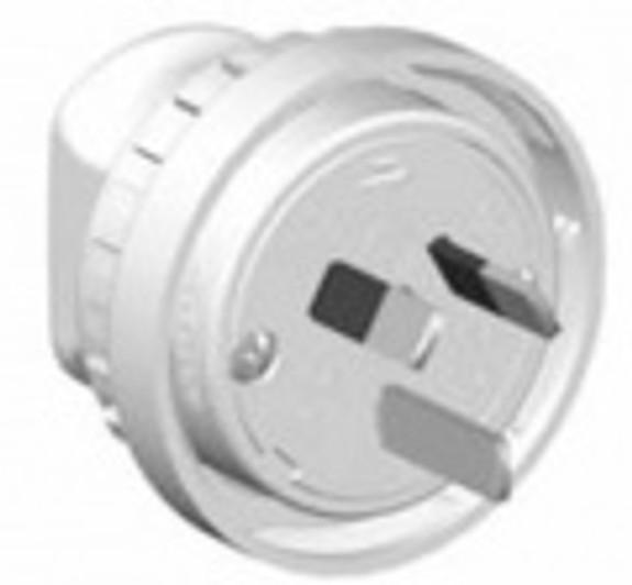 10A 3 pin lock plug White - PDL905LR