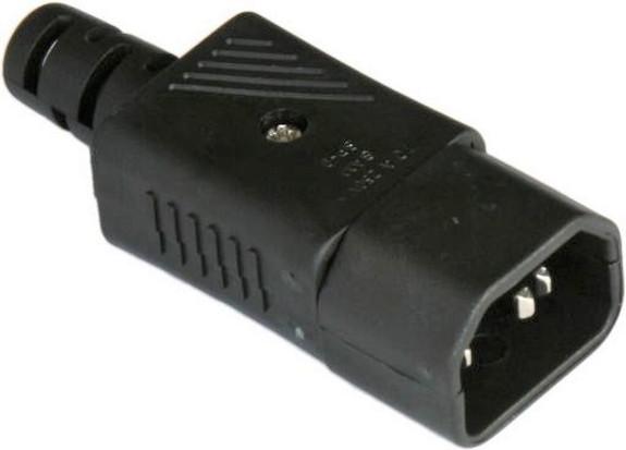 10A C14 IEC plug Black