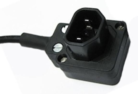 10A C14 IEC plug - European - 4 position lead entry low profile