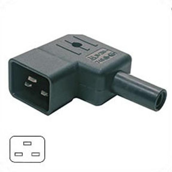 C20 RH angle plug