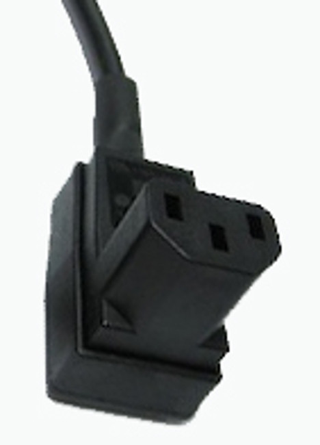 10A C13 IEC bottom entry low profile socket Black