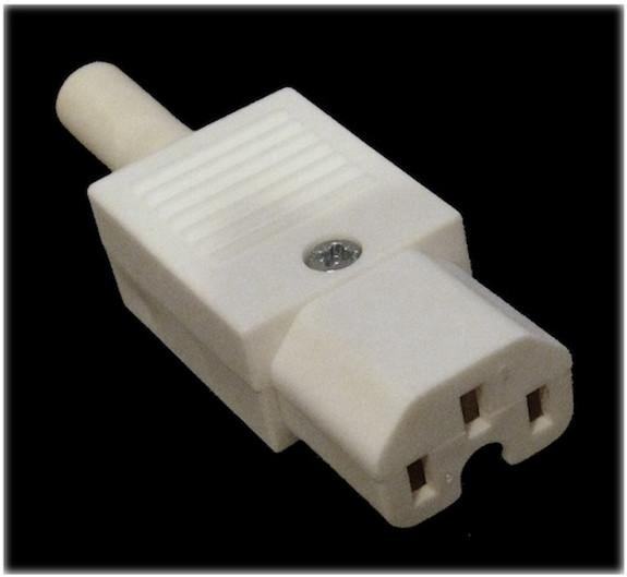 10A C15 IEC high temp (120degC) socket White