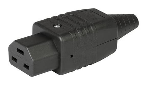 16A C21 IEC high temp (155degC) socket Black