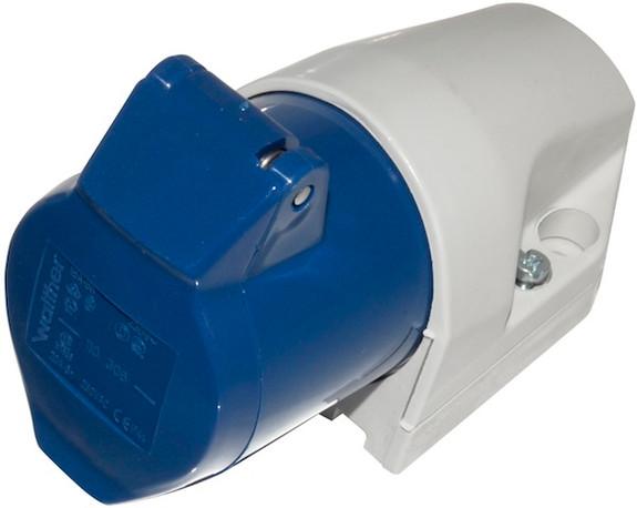 16A IEC 60309 surface mount socket (IP44)