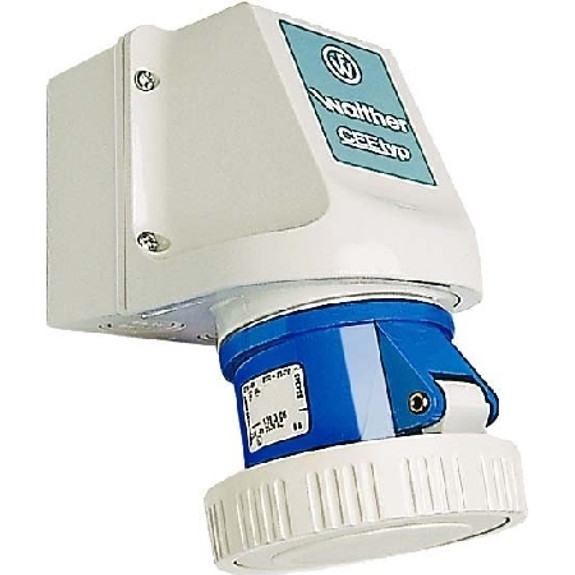 16A IEC 60309 surface mount socket (IP67)
