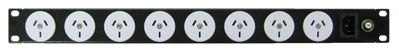 Power Strip 8 Outlets | 3pin | 19in 1RU Horizontal