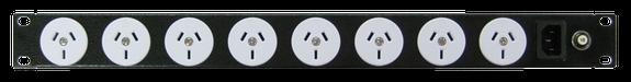 Power Strip 8 Outlets | 3pin | 19'' 1RU Horizontal