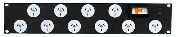 Power Strip 10 Outlets | 3pin | 19in 2RU Horizontal