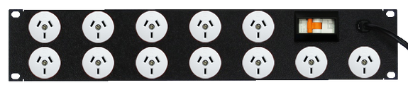 Power Strip 12 Outlets | 3pin | 19in 2RU Horizontal