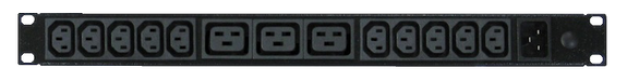 Power Strip 10+3 Outlets | IEC C13+C19 | 19in 1RU Horizontal