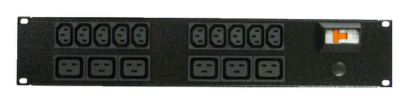 Power Strip 10+6 Outlets | IEC C13+C19 | 19in 2RU Horizontal