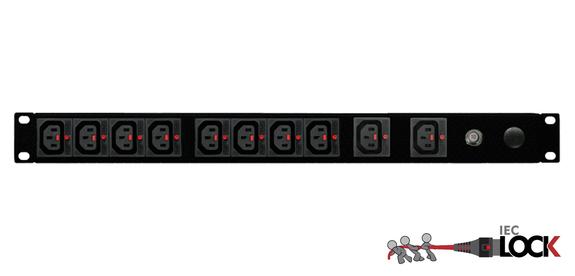 Power Strip 10 Outlets | IEC-Lock C13 | 19in 1RU Horizontal