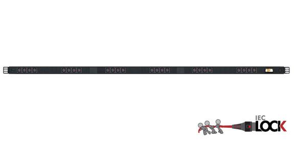 Power Strip 24 Outlets | IEC-Lock C13 | 1.7m Vertical