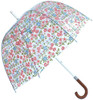 Laura Ashley Caravan Daisy Dome Shaped Birdcage Walking Umbrella Hook Handle