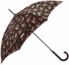 Cath Kidston Kingswood Rose Charcoal Auto Open Bloomsbury Umbrella Double Lining
