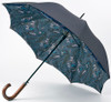 Ted Baker Shoreditch London Wyatt Paisley Lined Black Auto Open Walking Umbrella