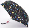 Joules Wild Flowers Navy Blue Pink Compact Tiny Folding Umbrella Handbag Size