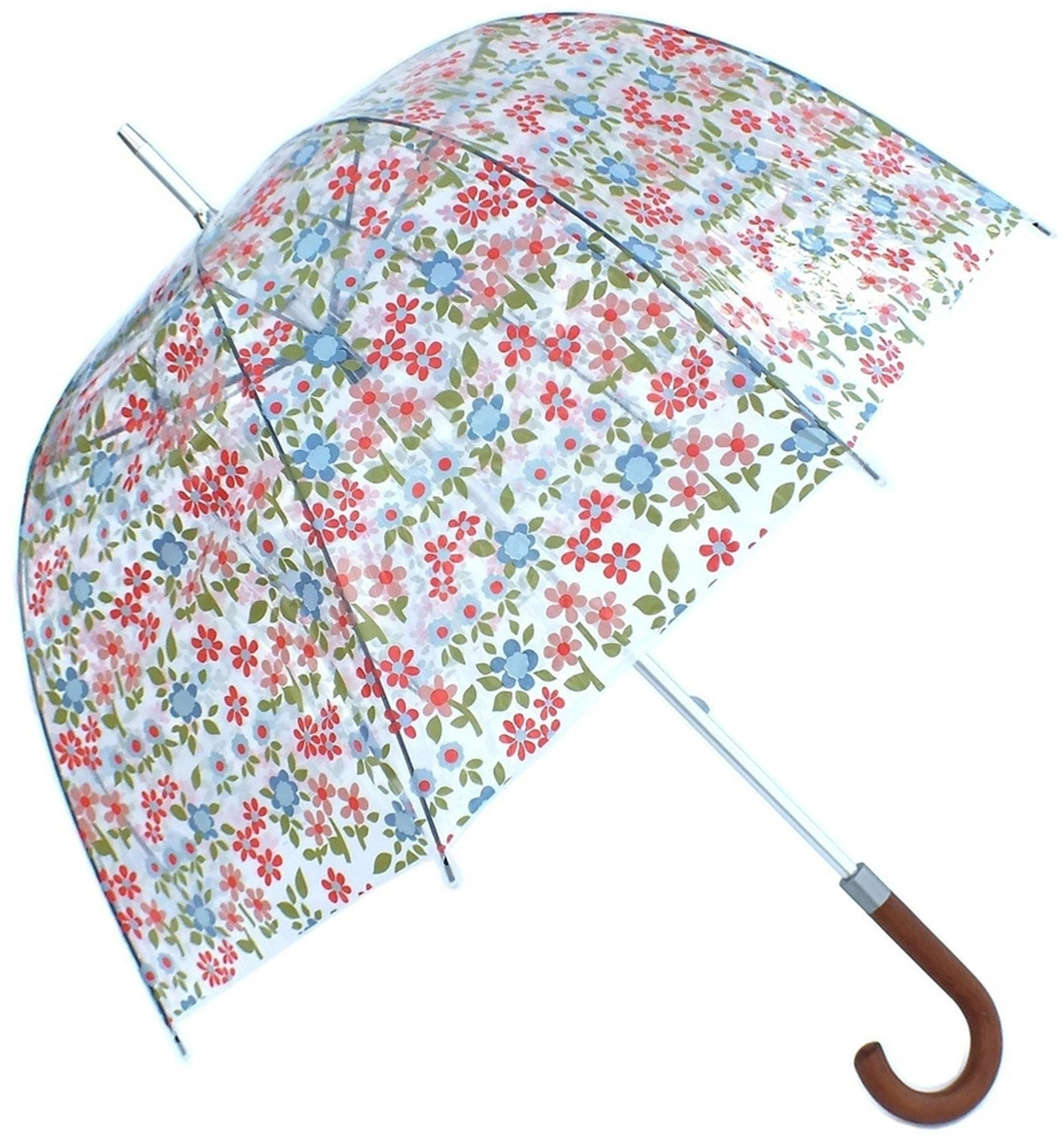 e948414ec908f Laura Ashley Caravan Daisy Dome Shaped Birdcage Walking Umbrella Hook Handle