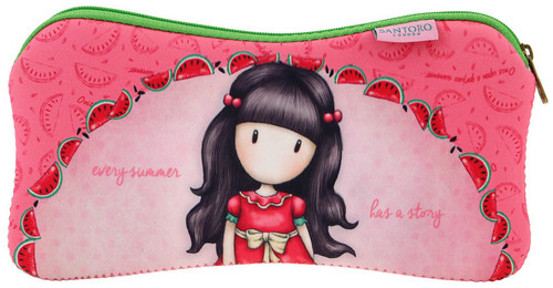 Gorjuss Every Summer Has A Story  Accessory Pencil Cosmetics Case Single Zipped Compartment