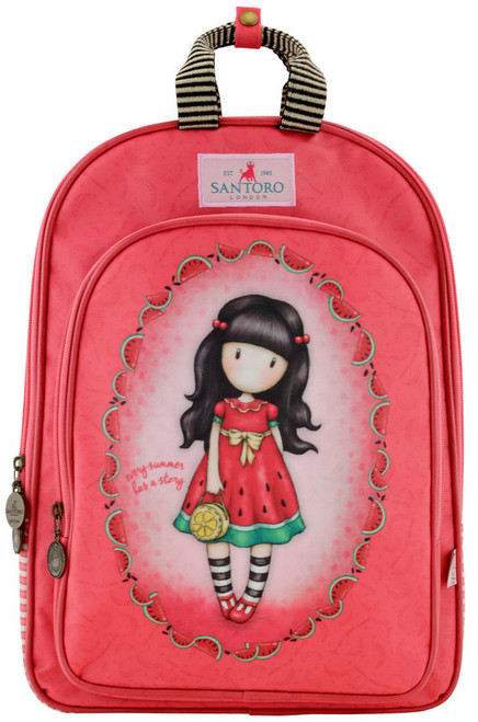 Gorjuss Every Summer Has A Story Coated Rucksack Padded Straps Santoro
