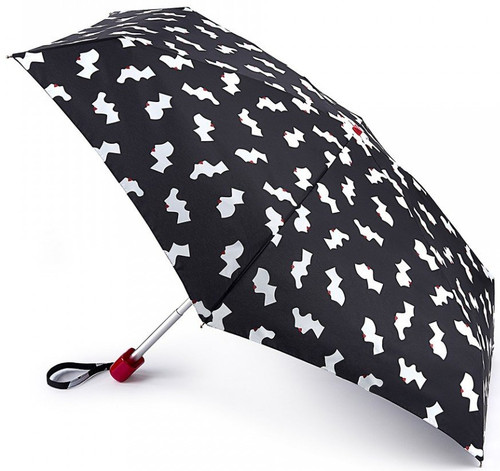 Lulu Guinness Cameo Girls Tiny Handbag Size Folding Umbrella & Cover