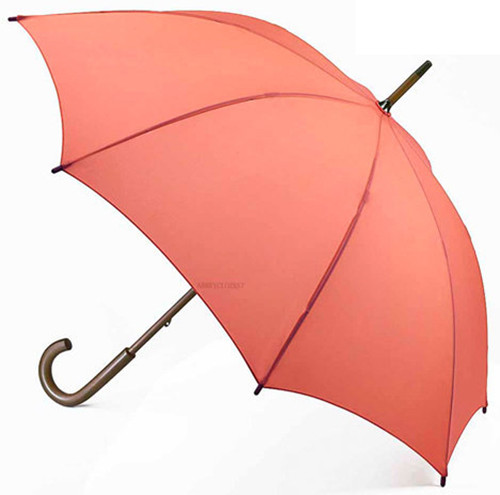 Fulton Coral Kensington Walking Umbrella Wooden Handle And Shaft 89cm Long