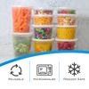Plastic Deli Food Storage Containers - 24oz