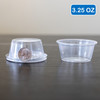 Clear Plastic Disposable Portion Cups/Souffle Cup with Lids 3.25 oz