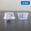 Clear Plastic Disposable Portion Cups/Souffle Cup with Lids 2 oz