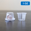 Clear Plastic Disposable Portion Cups/Souffle Cup with Lids 1 oz