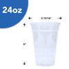 Plastic Cups - Clear - 24 oz